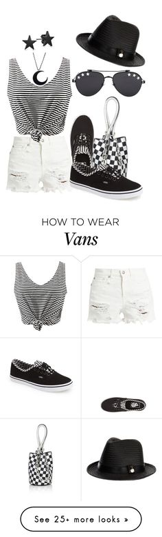 """Denim and Stripes - 05.2017"" by louvillia on Polyvore featuring R13, WithChic, Alexander Wang, Melissa Odabash, Vans, Givenchy, Bling Jewelry, stripes and ripped"