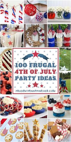 100 Frugal of July Party Ideas 100 Frugal of July Party Ideas Fourth Of July Shirts, Fourth Of July Food, 4th Of July Nails, 4th Of July Fireworks, 4th Of July Party, July 4th, Nutrition Education, July Game, Patriotic Desserts