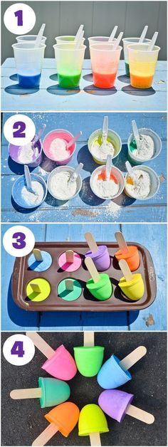 Give your budding graffiti artist the finest gear this spring with these DIY Sidewalk Chalk Pops. Your toddler will doodle for days with these homemade craft supplies. Have your kiddo take note that while these chalk pops may look like delicious lollipops Project Nursery, Craft Activities, Toddler Activities, Summer Activities For Toddlers, Babysitting Activities, Babysitting Fun, Preschool Learning, Homemade Crafts, Homemade Paint