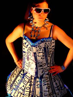 license plate dress by pixystick39000 on Etsy, $1000.00
