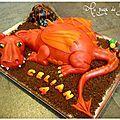 Idee gateau anniv Tom: Dragon rouge