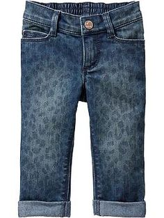 Leopard-Print Cuffed Jeans for Baby (Old Navy 12m-5T)