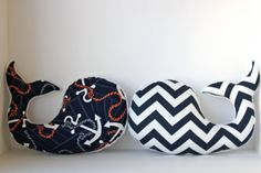 :) Another must :)  Modern baby WHALE pillow  nautical anchor nursery by LilKingdom, $32.00