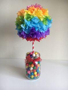 Rainbow ball centerpiece