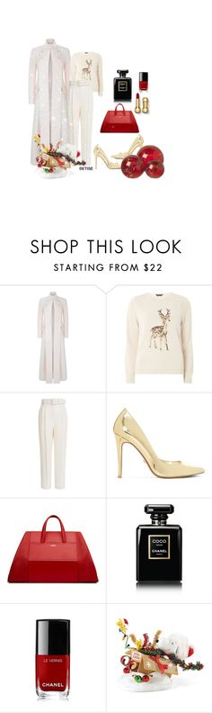 """NOEL ........ NOEL 🎄"" by betty-sanga ❤ liked on Polyvore featuring Temperley London, Dorothy Perkins, Emilia Wickstead, Dune, Chanel, Improvements and Parlane"