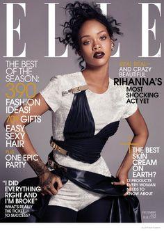 rihanna elle december 2014 01 Rihanna Poses in Haute Couture for ELLE December 2014 Cover Shoot