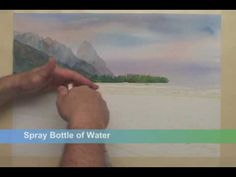▶ Watercolor Quest: second part is excellent..shows how to make a beach or edge of land by water.