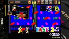The Revenge of Shinobi (Mega Drive) Gameplay Fase 2-2 e Chefe