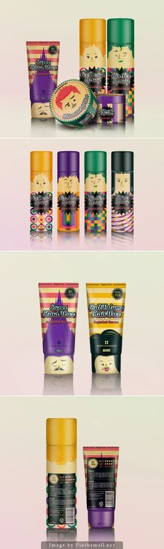 Magical hairline wax #packaging. Who wouldn't want to buy these? PD