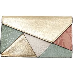 Joia Pastel Colourblock Clutch/Crossbody ❤ liked on Polyvore featuring bags, handbags, clutches, purses, accessories, hand bags, chain purse, chain crossbody purse, chain crossbody and man bag