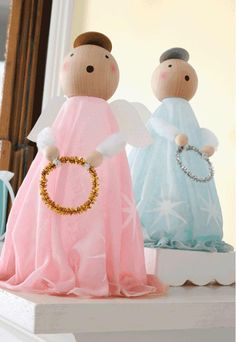 Plaid Stiffy Vintage Inspired Angels #christmas #craft
