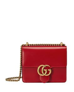 GG Marmont Small Leather Shoulder Bag 41e7772678f15