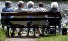 lekker buiten met de ouderen.