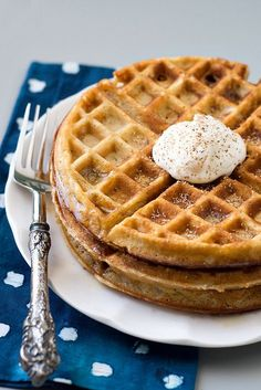 Eggnog Waffles   Cook Like a Champion