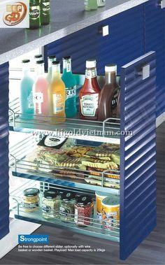 Kệ vách ba tầng tủ bếp bếp Higold - 304115