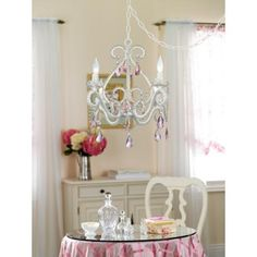 Crystal scroll white and pink 16 wide swag chandelier p5788 crystal scroll white and pink 16 wide swag chandelier mozeypictures Gallery