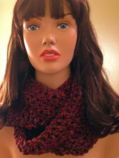 Crocheted Circle Scarf. Rust color.(can be made in most colors) 25.00 https://www.facebook.com/dawnsfashionaccessories