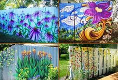 Painted fences. Love these ideas! I can see my future children and I painting a…