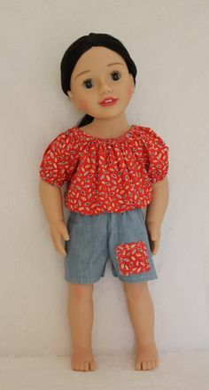 3 pc Peasant Outfit for Australian Girl doll & Karito Kids doll