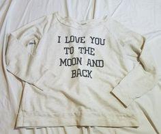 Urban Mix I Love you to the Moon Sweatshirt size XL #UrbanMix #Sweatshirt