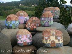 Elena Sanson Dipinti su sasso: Il paese dei sassi dipinti.