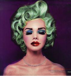 Ada Martini: would so rock this green Marilyn hair
