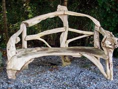 Driftwood has an inherently restful quality...perfect material for a bench or other resting place.