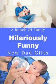 A Bunch Of Hilariously Funny New Dad Gifts Funny and humorous new Dad gifts. Great ideas that can be given from wife or friends. Gift ideas for first time fathers. Includes new dad survival kit gift ideas. Funny New Dad Gifts, First Time Dad Gifts, Baby Gifts For Dad, New Daddy Gifts, Best Baby Gifts, Dad Baby, Gifts For New Parents, Dad To Be Gifts, Gifts For New Grandma