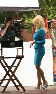 Dolly Parton ...~@ Dollywood Dolly joking with the cameraman