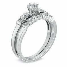 0.50 CT. T.W. Diamond Bridal Set in 10K White Gold   Bridal Sets   Wedding   Peoples Jewellers