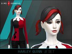 Harley Quinn set at Sims 4 Krampus • Sims 4 Updates