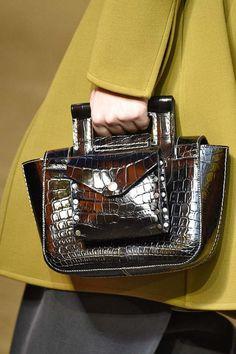 Céline metallic snakeskin top-handle bag