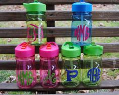 Kid's Personalized Water bottle with flip up straw, Personalized Juice, Perfect Party Favor, Birthday Favor Back to School Lunch Box Sports