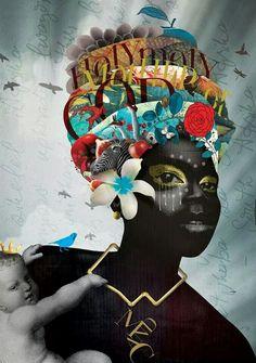 Caitlin Truman-baker. ' black madonna' digital collage