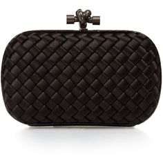 Bottega Veneta Knot satin and water-snake clutch ($1,385) ❤ liked on Polyvore featuring bags, handbags, clutches, bottega veneta handbags, evening handbags, bottega veneta, special occasion handbags and satin purse