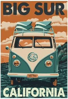 Long Beach Island, New Jersey - VW Van - Lantern Press Artwork Giclee Art Print, Gallery Framed, Espresso Wood), Multi Vw Vintage, Photo Vintage, Vintage Style, Vintage Vanity, Vintage Signs, Vintage Postcards, California Vw, Encinitas California, Bolinas California