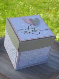 Für das Brautpaar gab es ein Geschenk in Form von einer Explosionsbox. Der Auftrag war, es sollte etwas Besonderes sein und da fällt einem ...