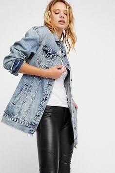 fdd9bd060620fa Free People Long Denim Jacket Denim Fashion