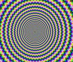 stare! and if you notice it moves but that is just your eyes staring
