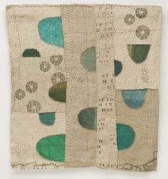 """Beautiful """"Bias"""" art quilt by Jody Alexander from the series entitled - KEEP - Modern Library - On the Wall."""