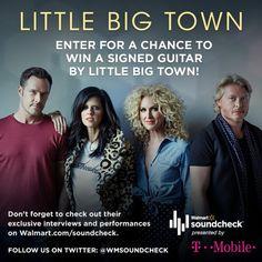 Win a Signed Guitar by Little Big Town #LittleBigTownWMSC  #WMSoundcheck  #ad