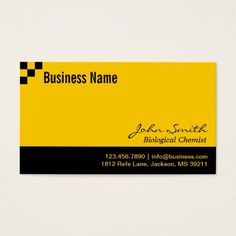 Checkerboard Biological Chemist Business Card