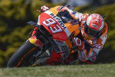 MotoGP Australia: Marc Marquez (Repsol Honda) took his fifth consecutive pole position at Phillip Island. Marc Marquez, Level 7, Andrea Iannone, Honda, Phillips Island, Vinales, Racing Motorcycles, Motogp, Golf Bags