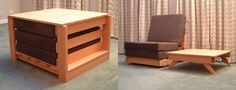 The KEWB is an entire house of furniture in one small package. The Sit n' Sleep KEWB is a table, a chair, a recliner, a side table, a bed and a dining set all in one. The entire unit collapses down to the size of a side table.