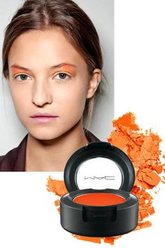 If you're doing a nude lip, now's the time to splash out on bold, bright eye shadow
