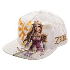 5c54b44e8540b Princess Zelda White Velvet Snapback Hat - Nintendo The Legend of Zelda  Women s  Bioworld
