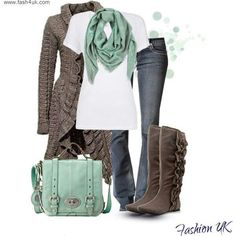 This sweater is awesome, and look at the boots, ♥♥♥