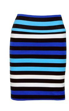 striped pencil skirt.