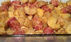 Cheesy Potatoes and Smoked Sausage