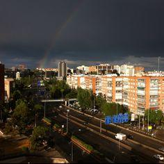 Arco iris sobre #Madrid